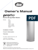 Proflow Water Heater Manual