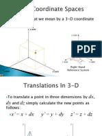 3-D Coordinate Spaces