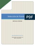 Seleccion de Variables - Métodos Stepwise