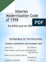 The Fisheries Modernization Code of 1998