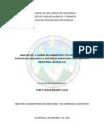 Análisis de la Cadena de suministro  y su integración mediante la gestión de inventarios ...