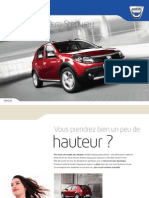 Brochure Sandero Stepway Mars 2012