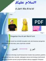 Study Hadist Al-Jarh Wa at- Ta'Dil