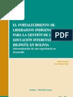 El fortalecimiento de liderazgos indigenas en Bolivia