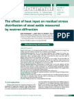 Effect of Heat Input to Weld Residual Stress