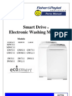 Fisher & Paykel Parts List for Washers Ph 6 MW511,MWC11,GW511,611,711,IW511,711,811