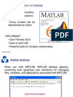 Part 1 - Introduction to Matlab
