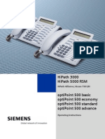 Siemens OptiPoint 500 Handset User Guide