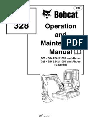 Bobcat 325 Service | Steering | Vehicles