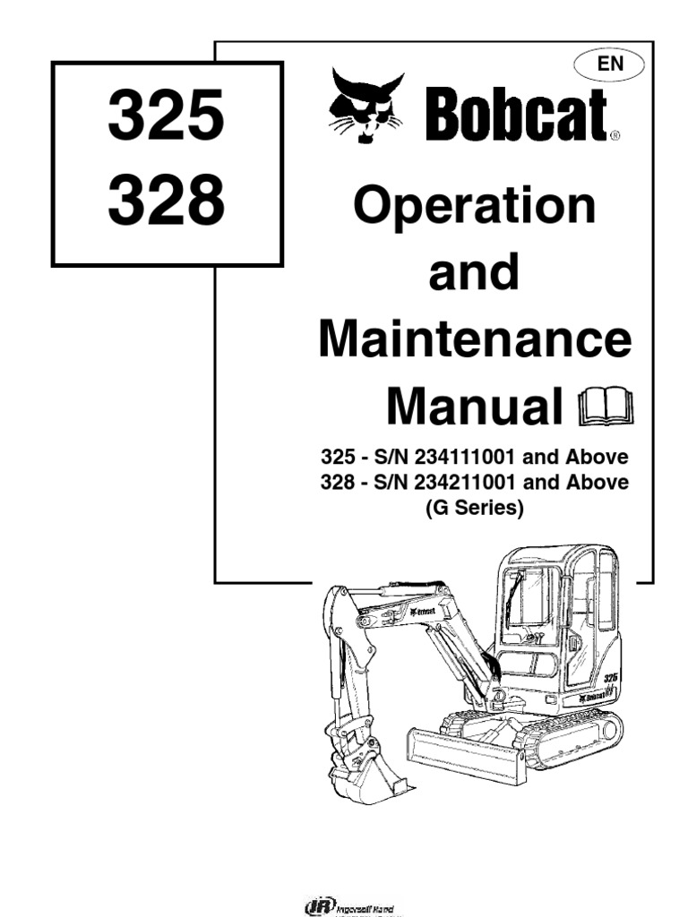 Bobcat 325 Service Steering Vehicles
