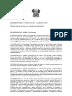 RECOMENDAÇÃO N 011 RECIFE CORAIS PARRACHOS