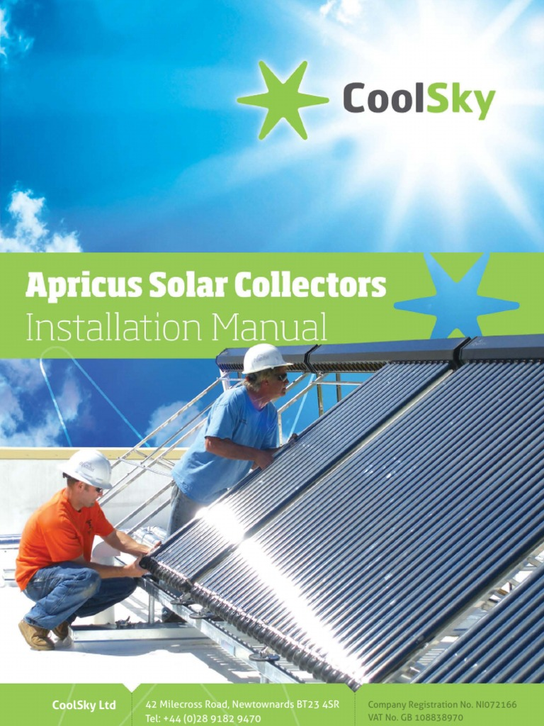 Apricus CoolSky Installation Manual | Water Heating | Pipe (Fluid ...