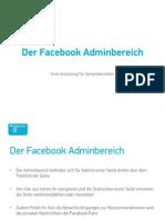 Facebook Adminbereich