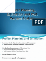 10 Project Planning, Estimation and Postmortem Analysis
