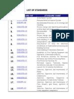 02-List of Standards