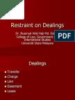 Restraint on Dealings