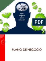 PLANO DE NEGÓCIO - O QUE É