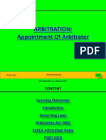 Arbitrator Appointment
