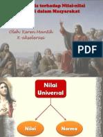 Agama_Bersikap Kritis Terhadap Nilai-Nilai Universal Di Dalam Masyarakat