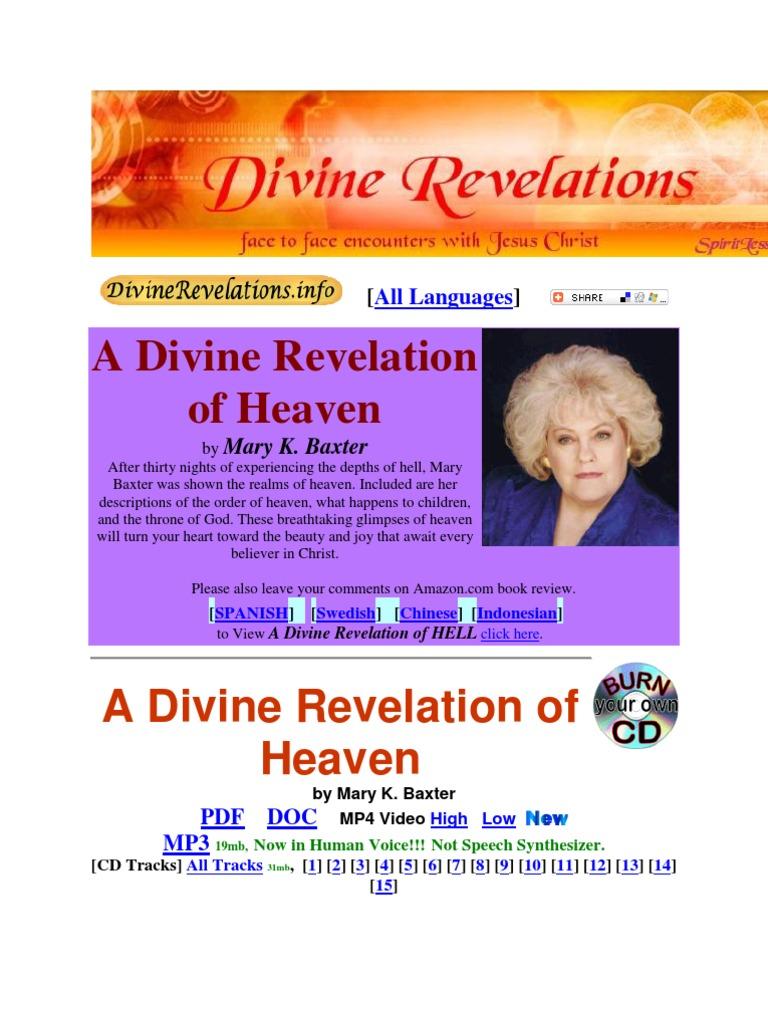 Mary k  Baxter | Heaven | Glory (Religion)