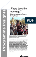 Where Does the Money Go: Citizen participation in Turkana County, Kenya