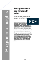 Local Governance and Community Action: How poor and marginalized people can achieve change