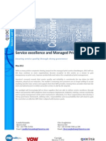 Service excellence and Managed Print Services