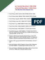 Kumpulan Serial Number Windows XP