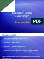 Microsoft® Office Excel formula