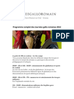 """GALLO ROMAN DAYS"" 2012 - Complete Programme"