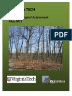 Virginia Tech Stadium Woods Forest Ecological Assessment