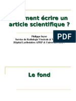 Comment Ecrire Un Article
