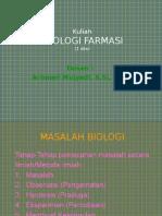 KULIAH BIOLOGI FARMASI