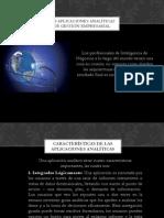 Las aplicaciones analíticas de Gestión Empresarial