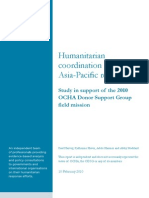 Asia Pacific Humanitarian Coordination Study 1