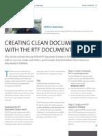 The RTF Document Creator