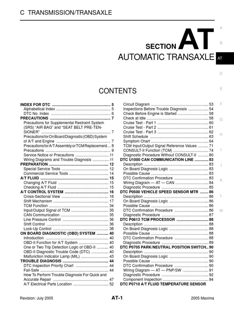 05 Maxima Auto Trans Clutch Airbag Sensor Circuit Page 15 Sensors Detectors Circuits Nextgr