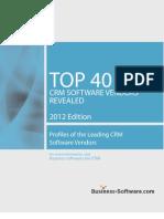 Top 40 CRM Software Vendors