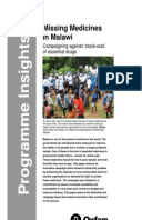 Missing Medicines in Malawi: Campaigning against stock-outs of essential drugs