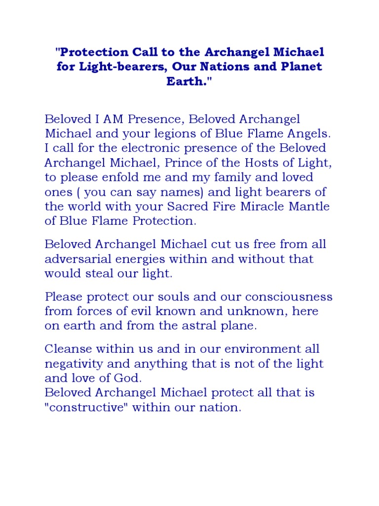 Protection Call to the Archangel Michael for Light | Michael