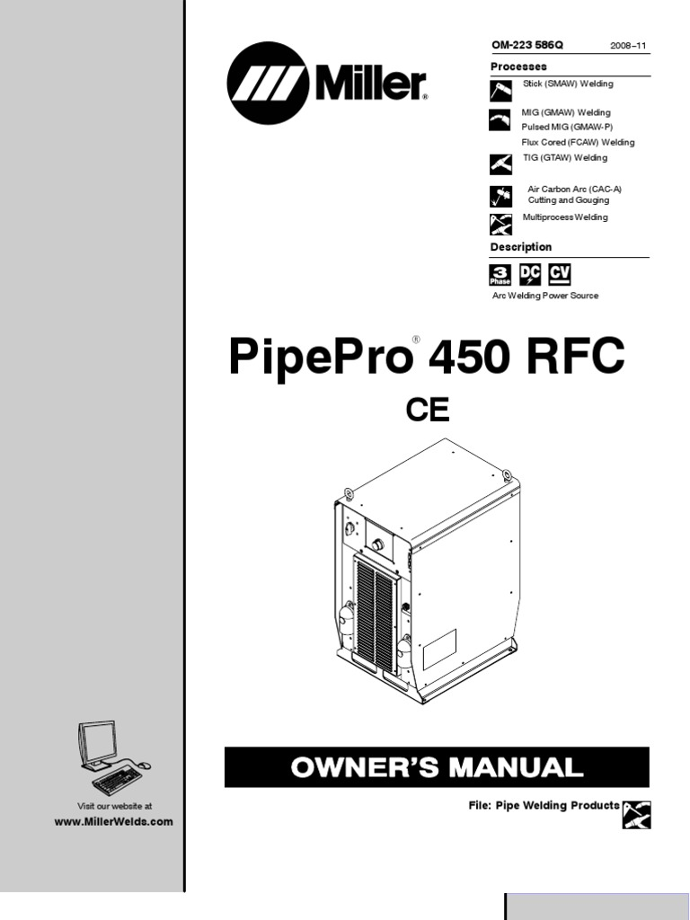 Miller pipepro 450 rfc welding insulator electricity buycottarizona Choice Image