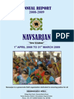 Annual Report Navsarjan 2008-2009