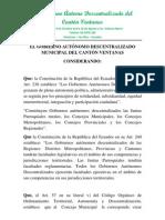ORDENANZA DE CHACARITA