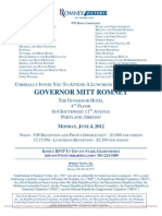 Luncheon Reception for Romney Victory Inc.