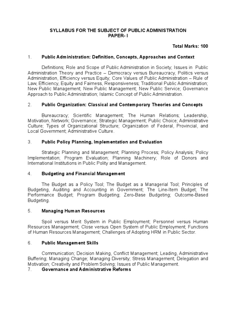 public admin public administration