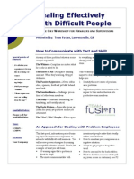 Dealing with Difficult People Workshop