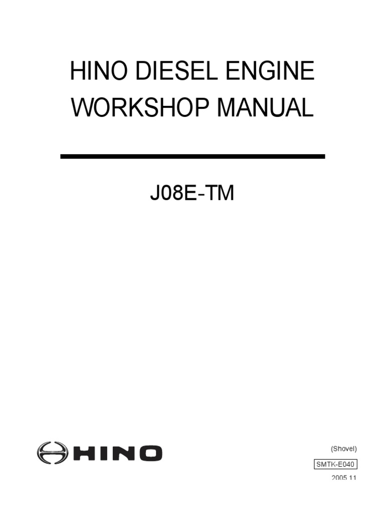 hino diesel engine workshop manual j08e tm electrical connector