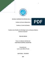 TESIS AUDITORÍA DE LA PLANIFICACIÓN ESTRATÉGICA PARA UNA EMP