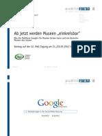 """Ab jetzt werden Museen """"einkreisbar"""". Was die Plattform Google+ für Museen leisten kann und wie deutsche Museen das nutzen"""