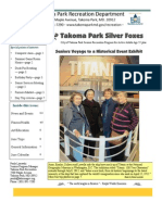 Silver Foxes Newsletter - June 2012 from the Takoma Park Recreation Department